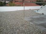 Impermeabilización de cubiertas no transibles, con aislamiento térmico, geotextil y grava